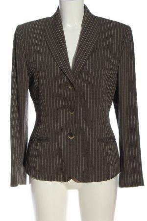 Laurèl Korte blazer bruin gestreept patroon zakelijke stijl