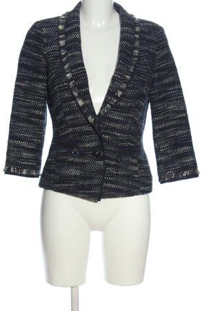 Laurèl Korte blazer blauw-wit gestippeld zakelijke stijl