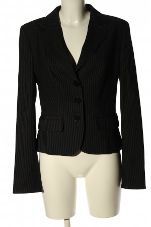 Laurèl Korte blazer zwart gestreept patroon zakelijke stijl