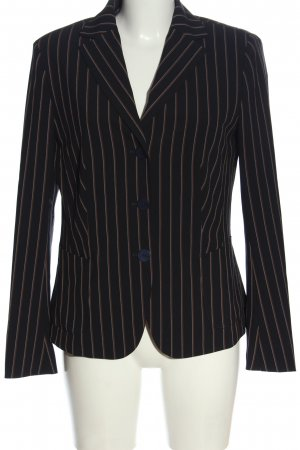 Laurèl Short Blazer black-brown striped pattern casual look