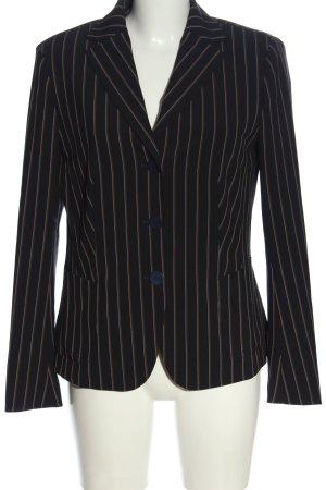 Laurèl Korte blazer zwart-bruin gestreept patroon casual uitstraling