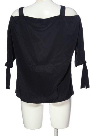 Laurèl Kurzarm-Bluse schwarz Casual-Look