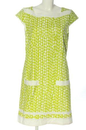 Laurèl Kurzarmkleid grün-weiß abstraktes Muster Casual-Look