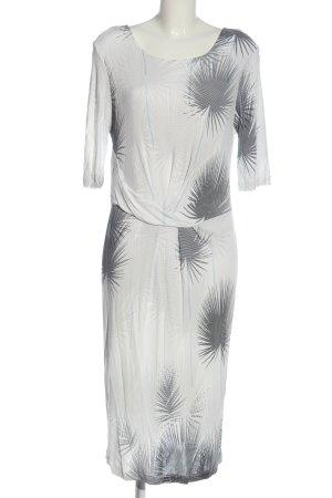 Laurèl Kurzarmkleid weiß abstraktes Muster Casual-Look