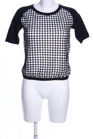 Laurèl Kurzarmpullover schwarz-weiß Casual-Look