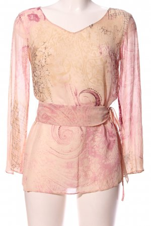 Laurèl Langarm-Bluse pink-creme Allover-Druck Casual-Look