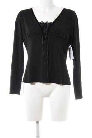 Laurèl Langarm-Bluse schwarz Casual-Look