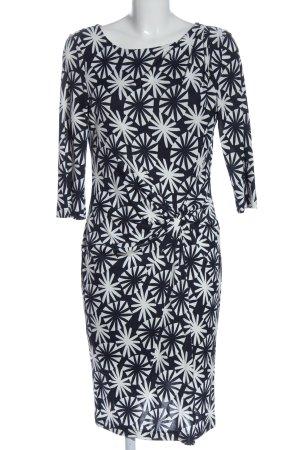 Laurèl Langarmkleid schwarz-weiß abstraktes Muster Elegant