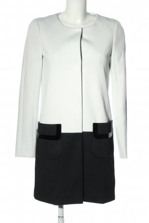 Laurèl Lange Jacke weiß-schwarz Casual-Look