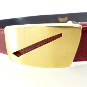 Laurèl Cinturón rojo Cuero