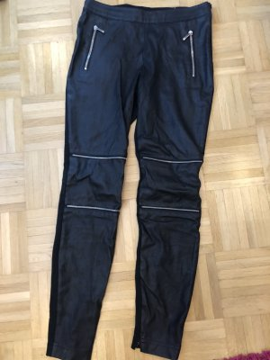 laurel jeans Pantalón de cuero negro-color plata