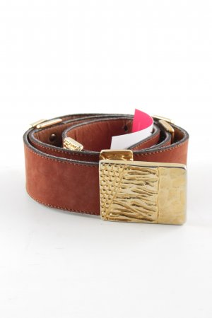 Laurèl Leather Belt gold-colored-brown party style