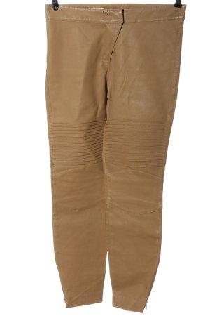 Laurèl Leren broek bruin casual uitstraling
