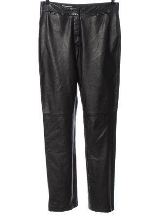 Laurèl Pantalone in pelle nero stile casual