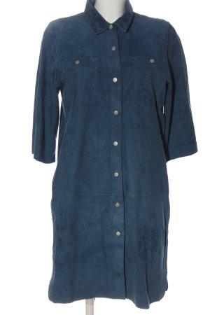 Laurèl Vestido de cuero azul estilo «business»