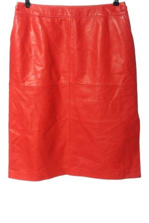 Laurèl Jupe en cuir rouge style décontracté