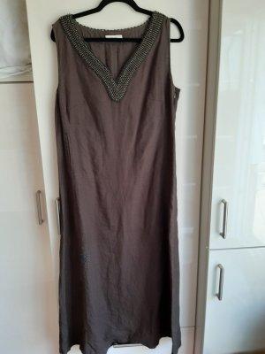 Laurèl Maxi Dress dark brown linen