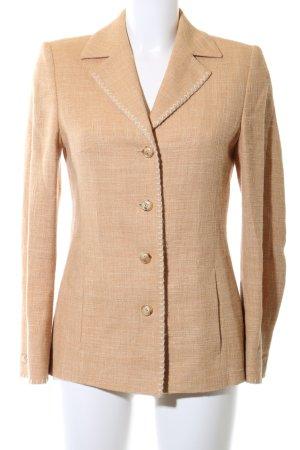 Laurèl Lange blazer licht Oranje gestippeld zakelijke stijl