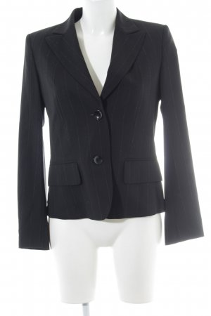 Laurèl Long-Blazer schwarz-silberfarben Business-Look