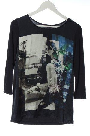 Laurèl Longsleeve black themed print casual look