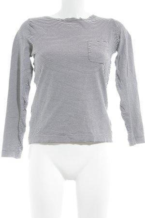 Laurèl Longsleeve schwarz-weiß Streifenmuster Casual-Look