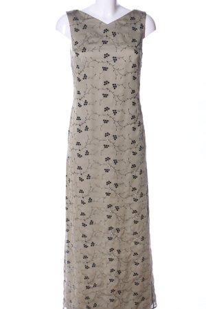 Laurèl Robe longue gris clair-noir imprimé allover élégant