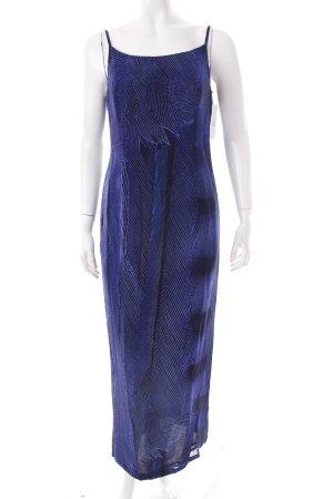 Laurèl Maxikleid blau-dunkelblau Streifenmuster klassischer Stil