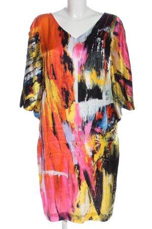 Laurèl Midi Dress black-pink allover print elegant