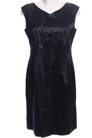 Laurèl Midi Dress blue-light grey abstract pattern elegant