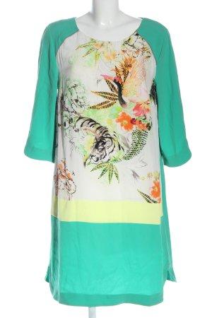 Laurèl Midi Dress turquoise themed print elegant