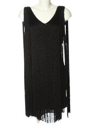Laurèl Mini Dress black striped pattern elegant
