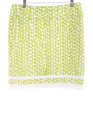 Laurèl Minirock weiß-grün abstrakter Druck Casual-Look