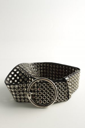 Laurèl Studded Belt black-silver-colored extravagant style