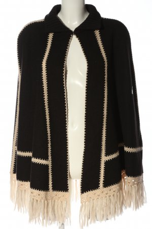 Laurèl Poncho brown-natural white themed print casual look