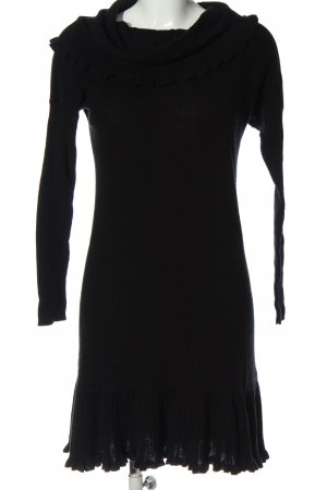 Laurèl Sweater Dress black flecked casual look