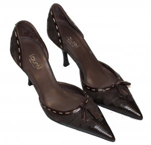 LAUREL Pumps dunkelbraun Leder Gr. 36