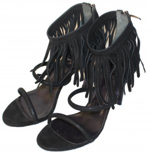 Laurèl Tacones de plataforma negro Cuero