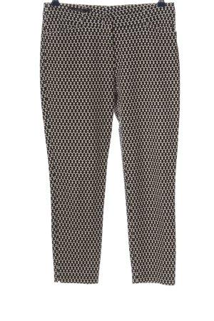 Laurèl Pantalone a sigaretta bianco sporco-nero stampa integrale stile casual
