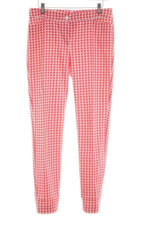 Laurèl Röhrenhose rot-pink Punktemuster Street-Fashion-Look