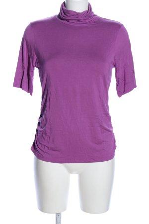 Laurèl Camisa de cuello de tortuga lila look casual