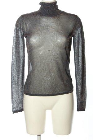 Laurèl Camisa de cuello de tortuga gris claro-color plata elegante