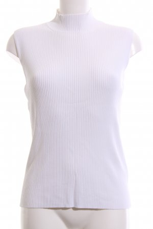 Laurèl Neckholder Top white striped pattern business style