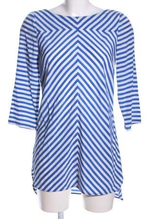 Laurèl Schlupf-Bluse blau-weiß Streifenmuster Casual-Look