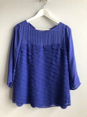 Laurèl Blouse en soie bleu-bleu acier