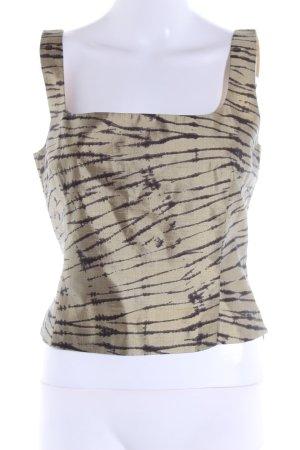 Laurèl Seidenbluse wollweiß-braun abstraktes Muster Elegant