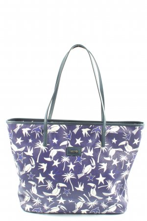Laurèl Shopper lilac-white allover print casual look
