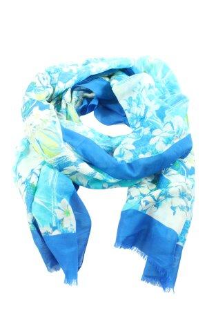 Laurèl Chal veraniego azul-blanco estampado floral elegante
