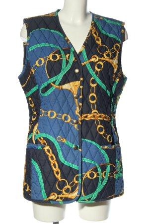 Laurèl Smanicato trapuntato blu-giallo pallido motivo trapuntato stile casual