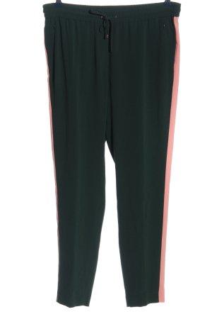 Laurèl Stoffhose grün-pink Casual-Look