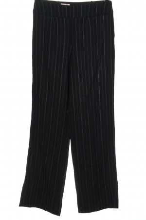 Laurèl Jersey Pants black-white allover print business style